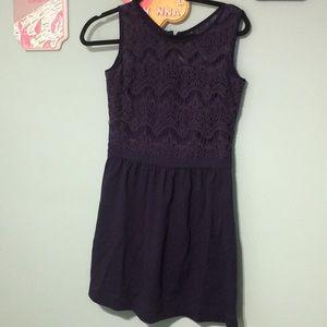 Lilly Pulitzer blue lace dress size medium.